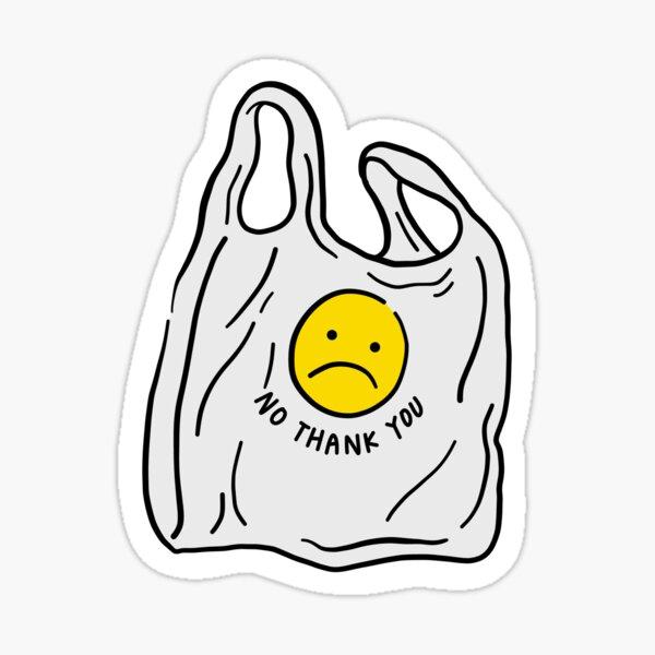Dites non aux sacs en plastique Sticker