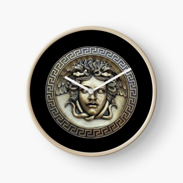 Greek Medusa Shield Clock