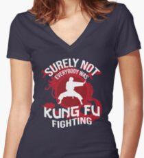 Sicherlich nicht jeder kämpfte Kung Fu Shirt mit V-Ausschnitt