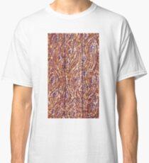 Wood Planks Pointillism by Kristie Hubler Classic T-Shirt