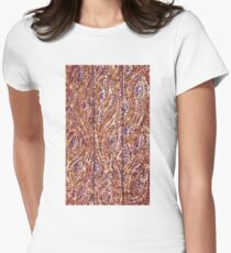 Wood Planks Pointillism by Kristie Hubler Women's Fitted T-Shirt