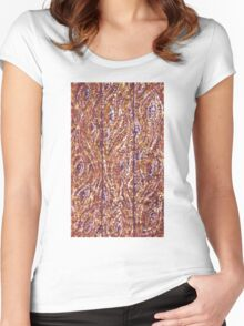 Wood Planks Pointillism by Kristie Hubler Women's Fitted Scoop T-Shirt