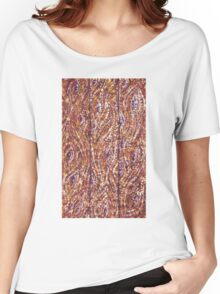 Wood Planks Pointillism by Kristie Hubler Women's Relaxed Fit T-Shirt
