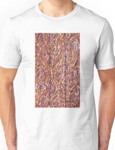 Wood Planks Pointillism by Kristie Hubler Unisex T-Shirt