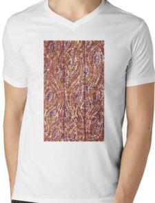 Wood Planks Pointillism by Kristie Hubler Mens V-Neck T-Shirt