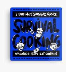 Survival Cooking Metal Print