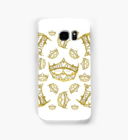 Queen of Hearts gold crown tiara tossed about by Kristie Hubler Samsung Galaxy Case/Skin