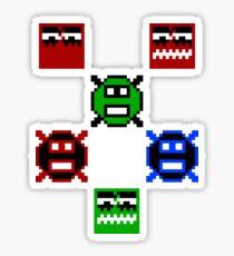 Pixel art enemies Sticker