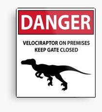 Halte das Tor geschlossen (Raptors) Metallbild