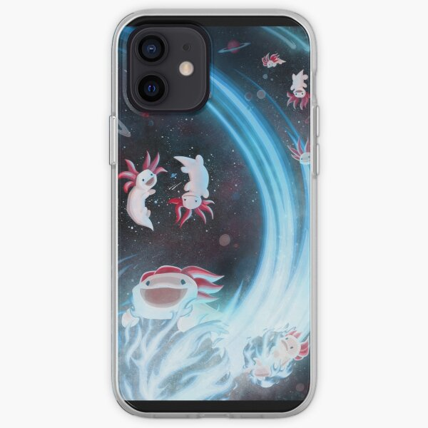 Axolotls In Space iPhone Soft Case