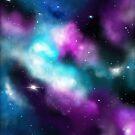 Galaxie, Träume in Türkis und Violett von Christine Krahl