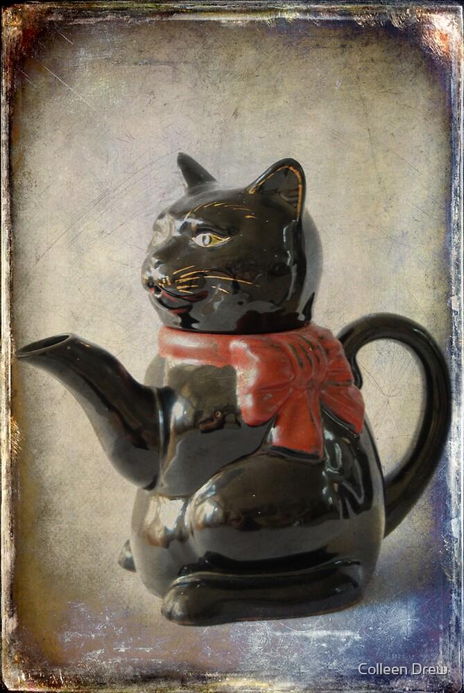 Black Cat Teapot by Colleen Drew