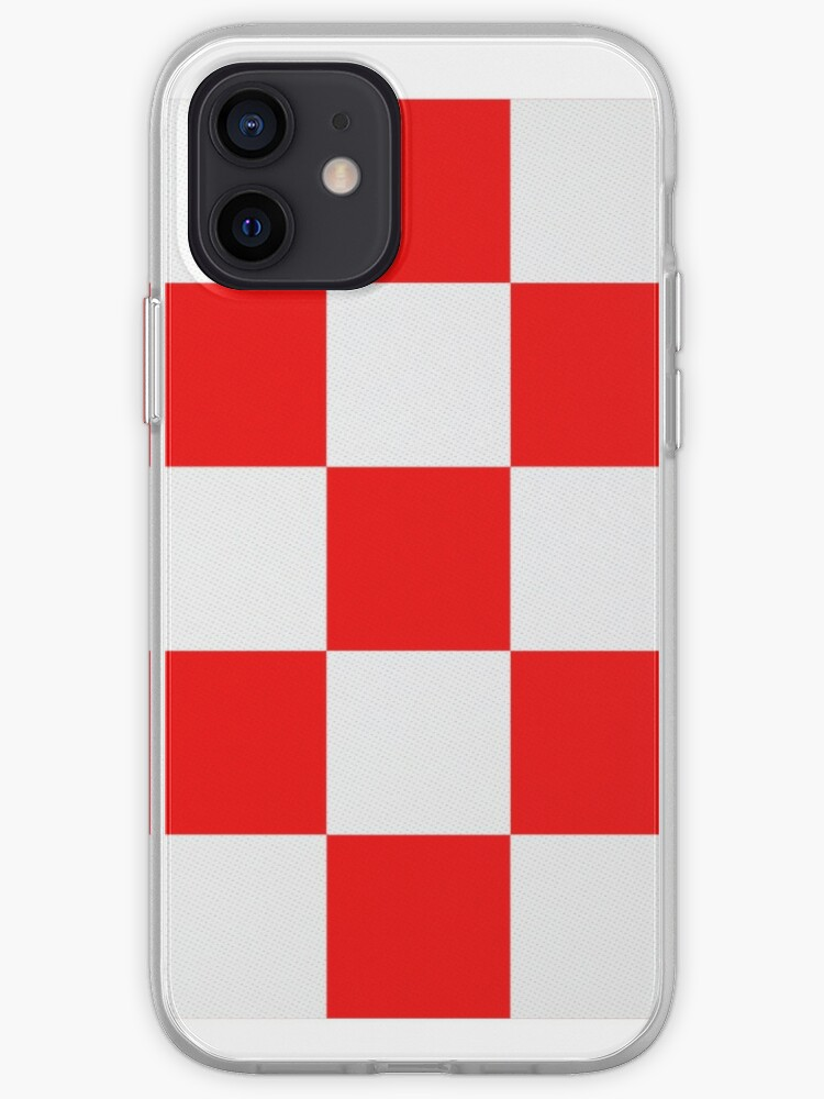 Croatian Red and White Squares   iPhone Case & Cover