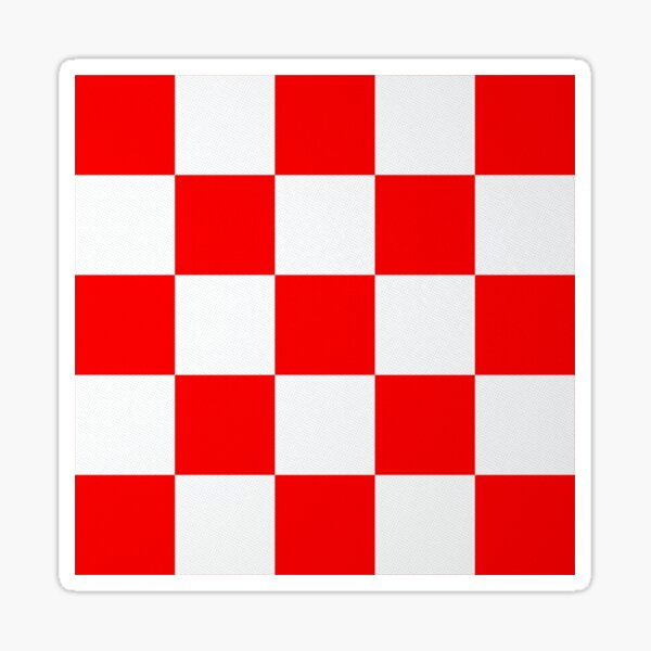 Croatian Red and White Squares Sticker