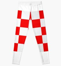 Croatian Red and White Squares Leggings