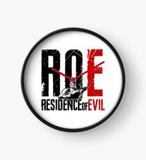 ROE Logo White  Clock
