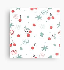 Cute Cherries Metal Print