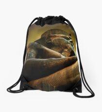 as light dawns on Ramesses II Drawstring Bag
