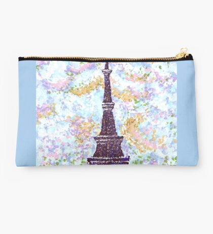 Eiffel Tower Pointillism by Kristie Hubler Studio Pouch