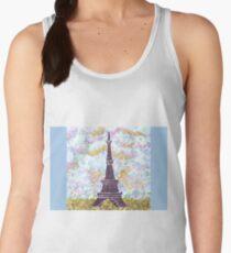 Eiffel Tower Pointillism by Kristie Hubler Women's Tank Top
