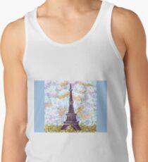 Eiffel Tower Pointillism by Kristie Hubler Tank Top