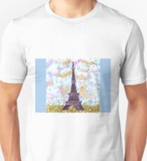 Eiffel Tower Pointillism by Kristie Hubler Unisex T-Shirt