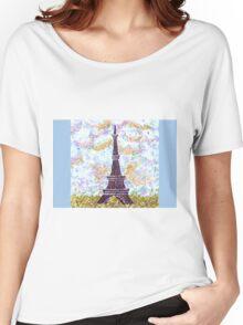 Eiffel Tower Pointillism by Kristie Hubler Women's Relaxed Fit T-Shirt