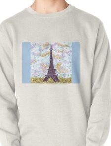 Eiffel Tower Pointillism by Kristie Hubler Pullover
