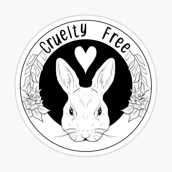 Cruelty Free Bunny White Border Sticker