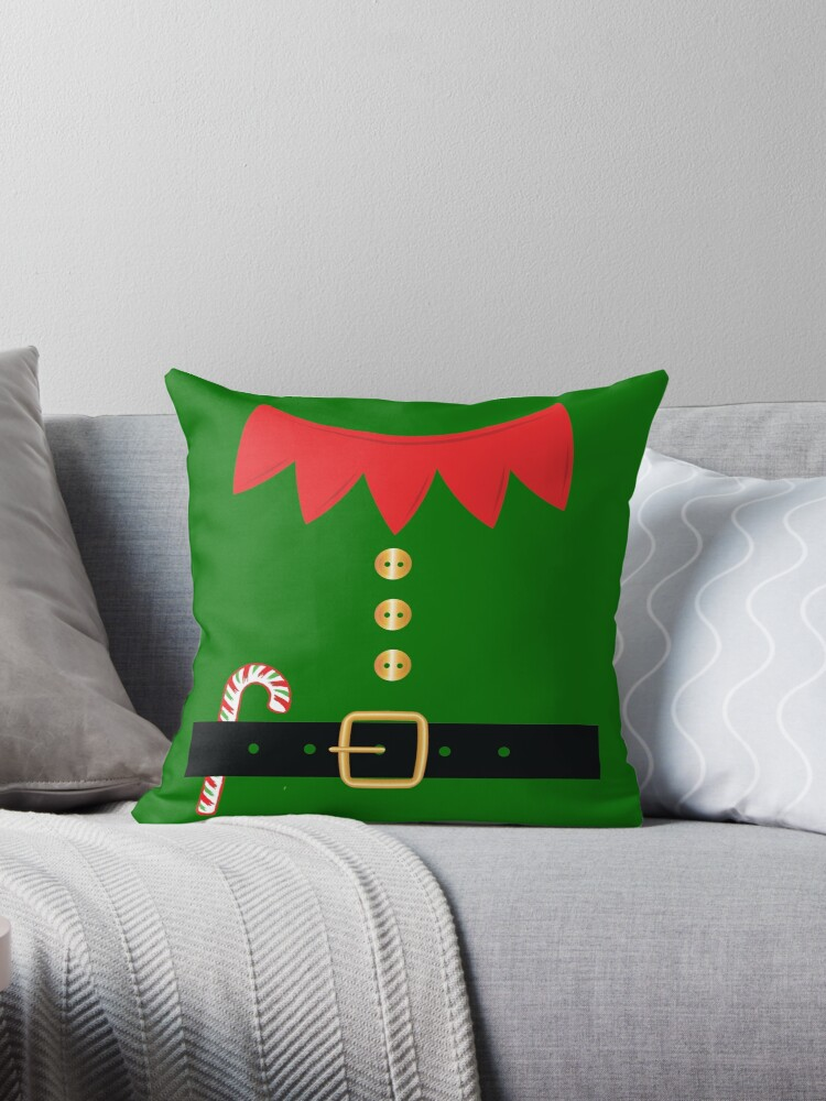 \'Santa Elf Costume Holiday Christmas Cute T-Shirt\' Throw Pillow by  tronictees