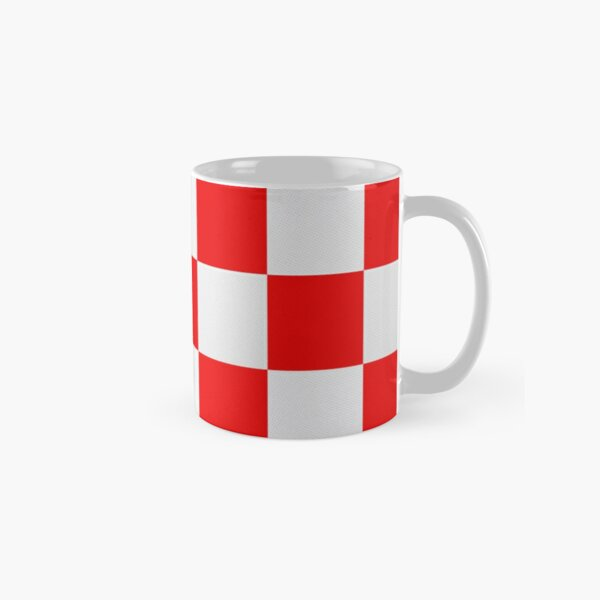Croatian red and white squares Classic Mug