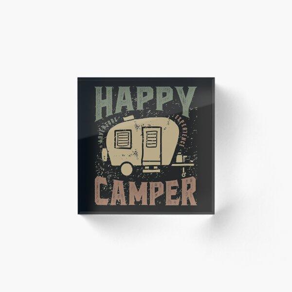 Happy Camper Acrylic Block
