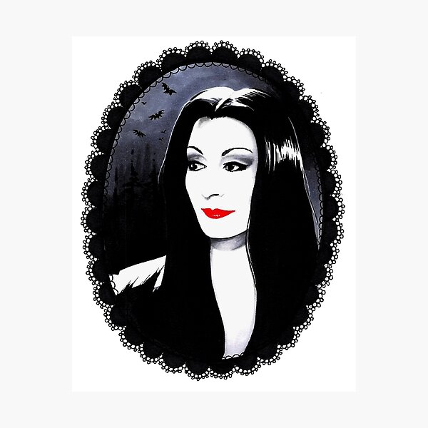 Morticia Photographic Print