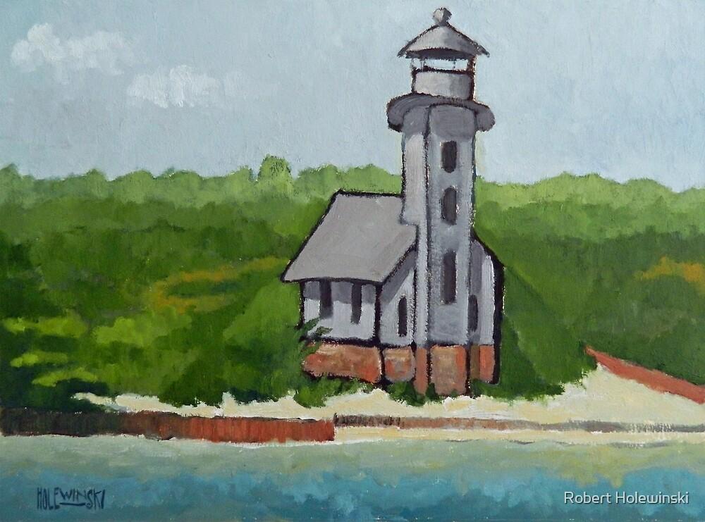 Clapboard Lighthouse    by Robert Holewinski