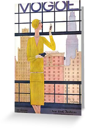 Vogue Cover - May 1928 - City View by Gulnaz