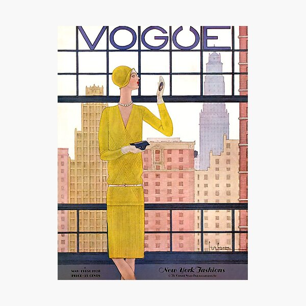 Vogue Cover - May 1928 - City View Photographic Print