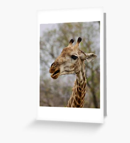 I AM NOT TALKING TO YOU !! Greeting Card