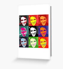 faces of Elvis Greeting Card