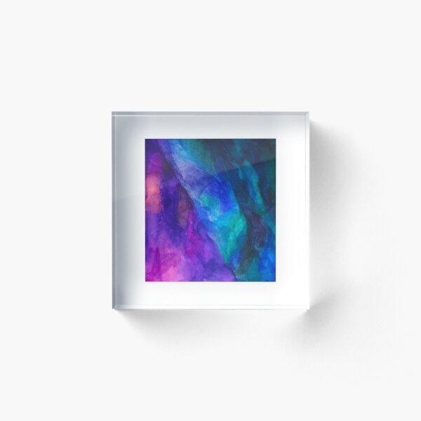 Multi-Colored Sky Acrylic Block