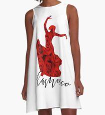 Flamenco Flower Dance Spanish Spain Dancer Gift A-Line Dress