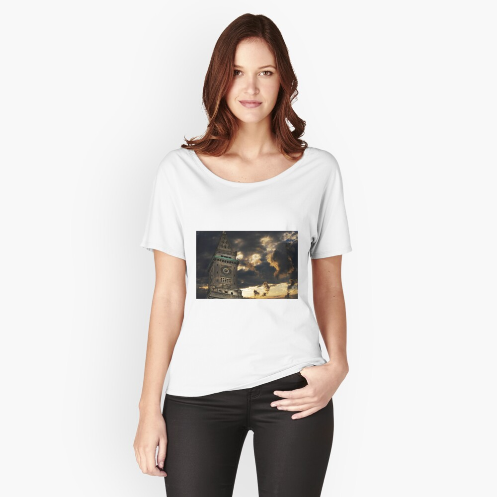 Customs House Clock Tower Women's Relaxed Fit T-Shirt Front