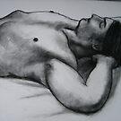 Male Torso, reclining. by Bill Proctor
