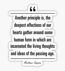 Matthew Simpson famous quote about age Sticker