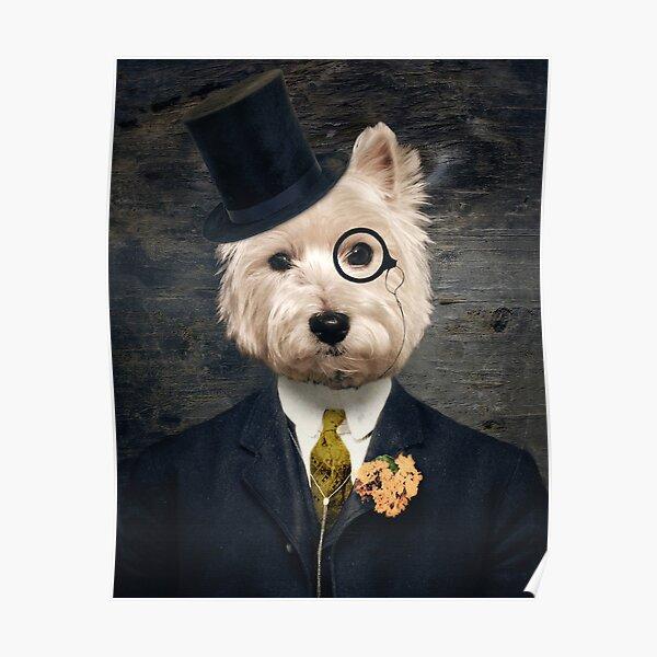 Westie Dog Art - Sir Bunty Poster