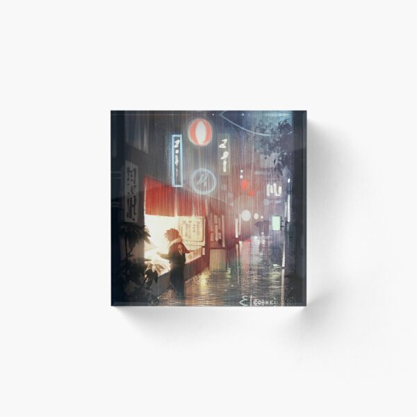 Night in Tokyo Acrylic Block