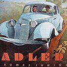 Adler Trumpf Junior ...Vintage 1936 Auto Advertisement by edsimoneit