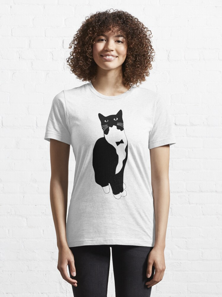 Alternate view of Tuxedo Cat Meme Essential T-Shirt