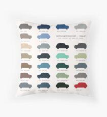 Austin Mini classic - 60's original car colours  Throw Pillow