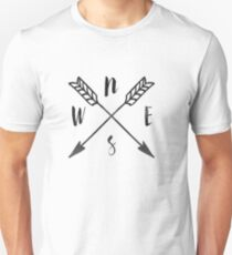 Compass Print, North, East, South, West T-Shirt