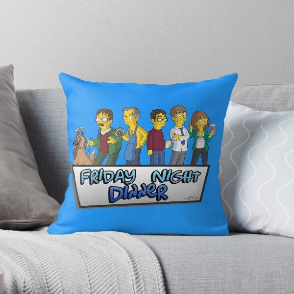 Friday Night Dinner Caricatures! Throw Pillow